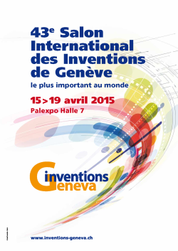 Salon international des inventions 2015 à Palexpo