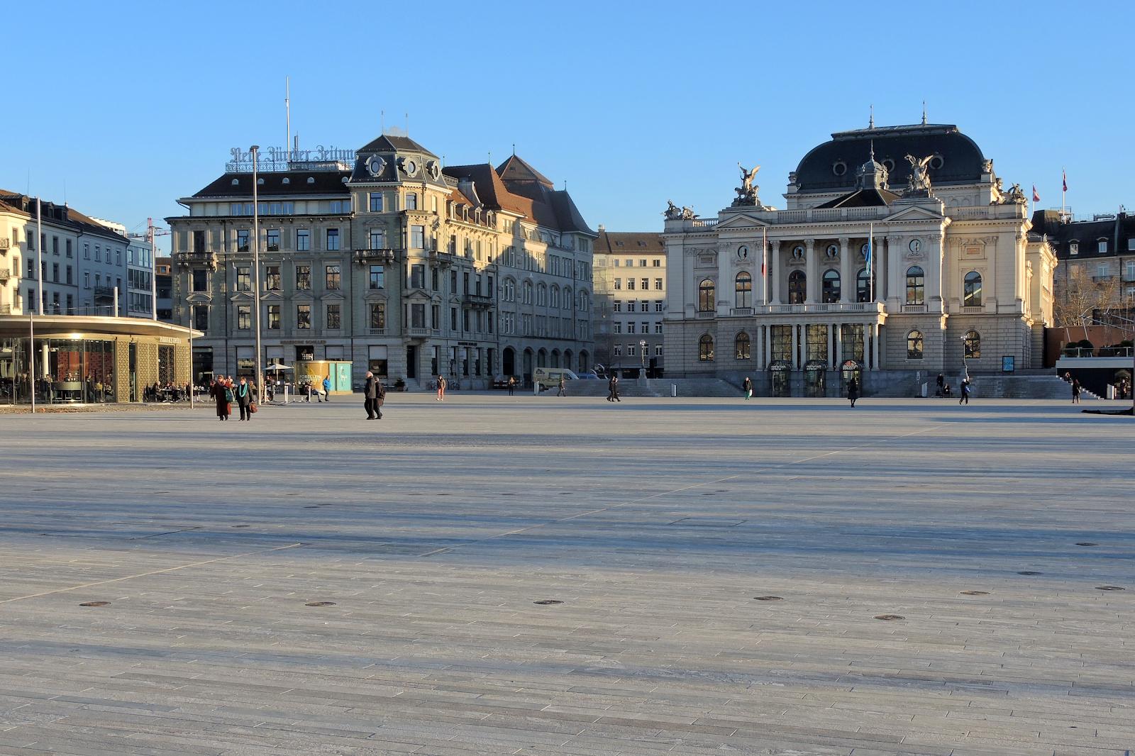 La place du marché à Zurich