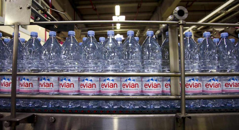Evian water packaging plant