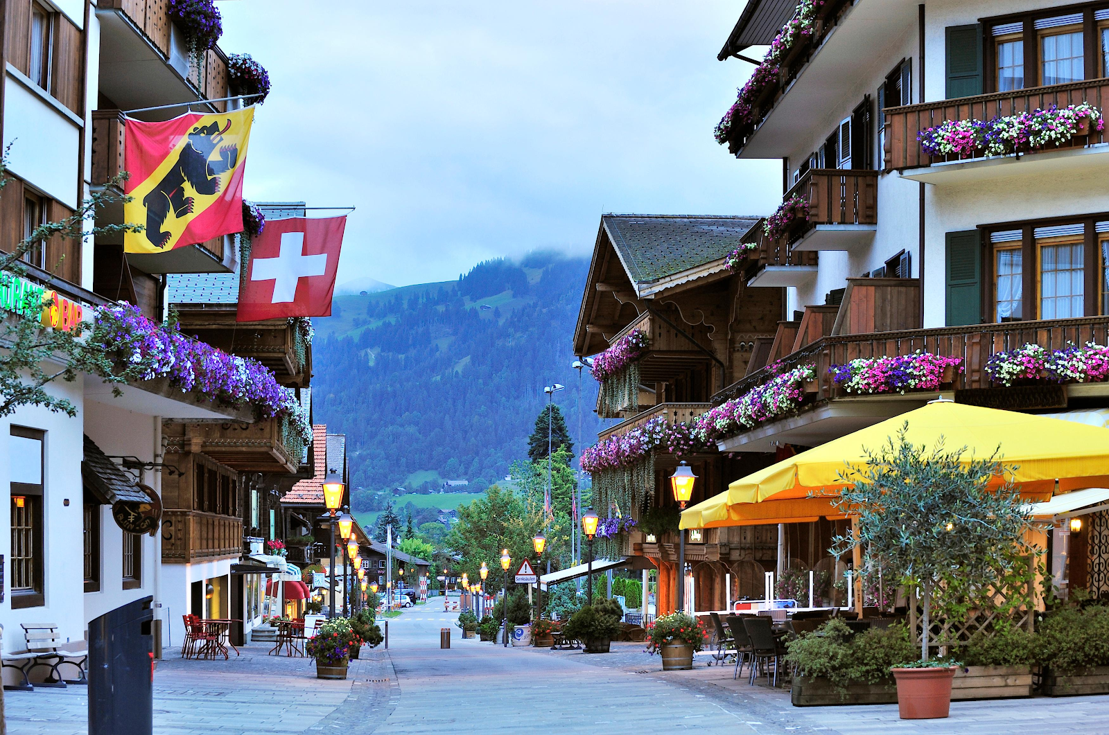 Gstaad city's view